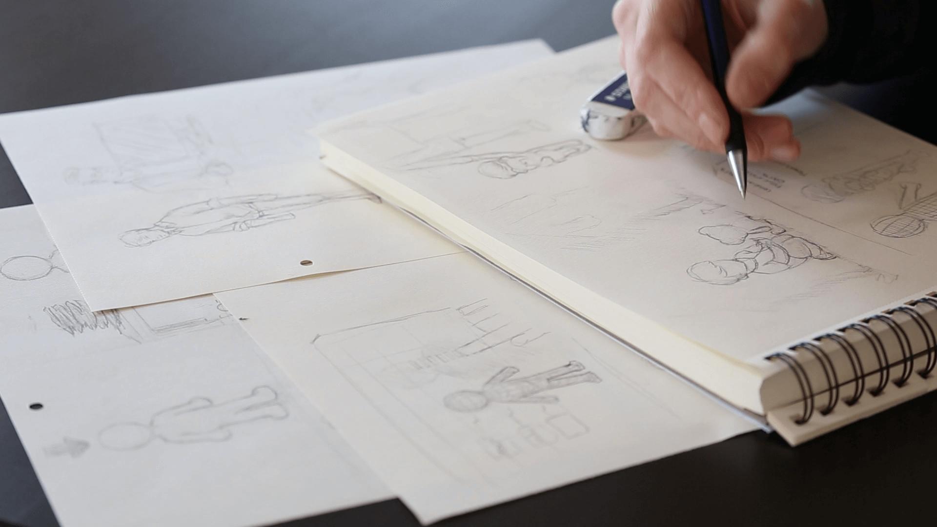 hand drawn video concept